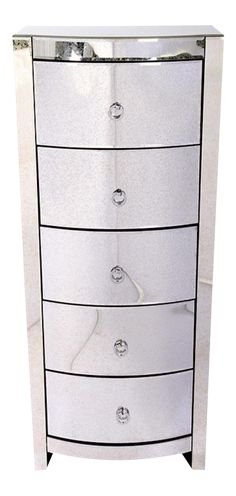 Hollywood Regency Style Mirrored Lingerie Chest on Chairish.com