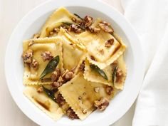 #FNMag's Ravioli With Sage-Walnut Butter