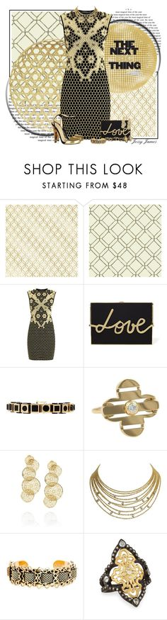 """Gold Contest 2"" by jessy-james83 ❤ liked on Polyvore featuring Brewster Home Fashions, York Wallcoverings, Alexander McQueen, Gatsby, Lanvin, Eddie Borgo, Louis Vuitton, Isharya, Cartier and Nicole Romano"