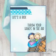 This project uses the Life's a Ride set by Kindred Stamps. Check out my blog for details on how I made this card!