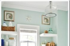 Sherwin Williams Rainwashed- obsessed with this color!! Great for a bedroom or bathroom!