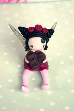 fairy figurine made of polymer clay, around 6 cm