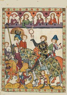 Tapisseries murales -medievale    codex Manesse