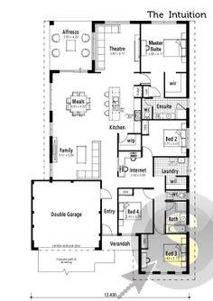39 The Paragon 39 Floorplan 15m Frontage Square Block Design