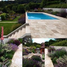 Love the upper-level pool on this hillside lot. - Love the upper-level pool on this hillside lot. Sloped Backyard, Backyard Pool Landscaping, Small Backyard Pools, Backyard Pool Designs, Swimming Pools Backyard, Swimming Pool Designs, Outdoor Pool, Landscaping Ideas, Pool Fence