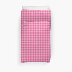 Blanket cover. Home decor. Buffalo plaid in baby pink. Classic pattern. by linepush