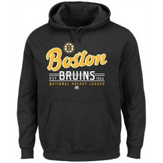 Majestic Men's Boston Bruins Intense Defense Hoodie ($60) ❤ liked on Polyvore featuring men's fashion, men's clothing, men's hoodies, black, mens sweatshirts and hoodies, mens hoodies, mens hoodie and mens hooded sweatshirts