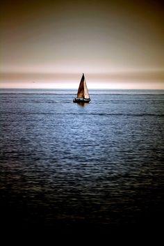 Like a Dream. Nature photography via Photography Talk.  #sea #boat #sky #nature #inspiration #beauty #photographytalk