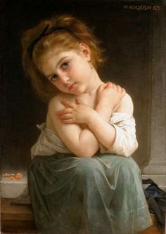 La frileuse-William Adolphe Bouguereau (1825 – 1905, French)