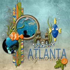 aquarium scrapbook layouts | Atlanta Aquarium - Digital Scrapbooking Gallery at Digitals