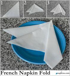 How To: French Napkin Fold