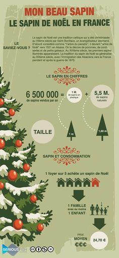 """Les sapins de Noël en France Le sapin de Noël est une tradition celtique qui a été christianisée au VIIème siècle par Saint Boniface, un évangélisateur allemand. D'abord considéré comme """"l'arbre du paradis"""", il devient """"arbre de Noël"""" vers 1521 en Alsace...."""