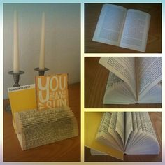 turn an old book into a beautiful card holder #carddisplay