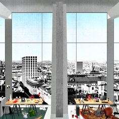 AA School of Architecture 2014 - Diploma 14 - Marie Louise Raue, Factory for Living: A new model for public housing in Vienna, Collective work space