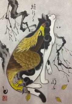 Monmon Eagle Cat Print                                                                                                                                                      More