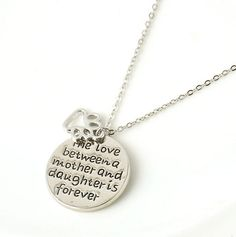 Precious Mother Daughter Pendant Necklace