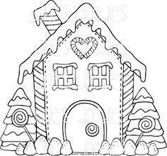 Free Printable Gingerbread House Coloring Pages for Kids