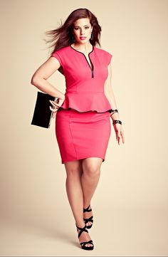 A.B.S. by Allen Schwartz Peplum Dress & Accessories