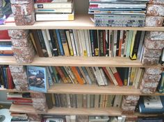 How To: Make a Brick and Board Bookshelf — Home by Sunset | Apartment Therapy