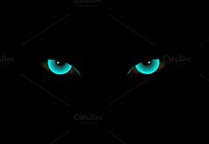 Demon eyes neon color vector @creativework247