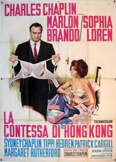 """""""LA CONTESSA DI HONG KONG"""" MOVIE POSTER - """"A COUNTESS FROM HONG KONG"""" MOVIE POSTER  1967"""