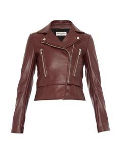 Баленсиага кожаные Байкерские куртки, $3450; matchesfashion.com