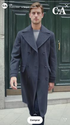 Navy Coat, Jackets, Fashion, Down Jackets, Moda, Fashion Styles, Fashion Illustrations, Jacket