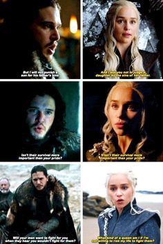 wow. that must throw Jon when Dany is saying his words back at him