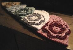 612 Months crochet baby hat with flower from by MotivesAndPatterns, $22.90