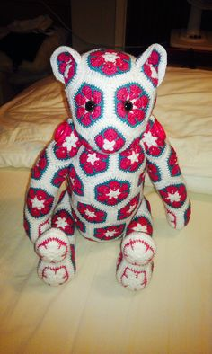 Bear number 5 My African heidi lollo bear Lollo African flower Bear-Crochet Pattern by - Heidi Bears - ( available at , Http://heidibearscreativeblog spot.com ).