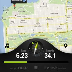 Bicycle iPhone app by Michal Galubinski, via Behance