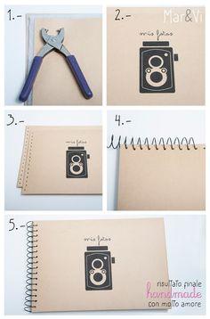 "Foto ""pinnata"" dalla nostra lettrice Marivi, blogger di Mar creative studio. DIY: album fotografico handmade #diy #handmade #photobook www.marandvicreativestudio.com"