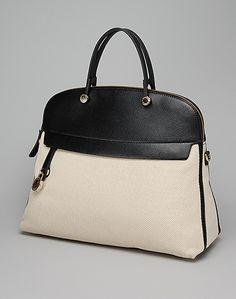 Furla two-tone leather handbag
