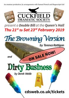 February Double Bill | Cuckfield Dramatic Society February, Presentation, Posters, Teaching, Postres, Learning, Education, Banners, Poster
