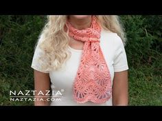 Heres a pretty crochet scarf pattern that I made for my Wedding Anniversary celebration. It has waves, ripples, chevrons, and lace combined into one. Crochet Lace Edging, Crochet Shawl, Crochet Flowers, Crochet Stitches, Knit Crochet, Crochet Patterns, Scarf Patterns, Crochet Granny, Crotchet