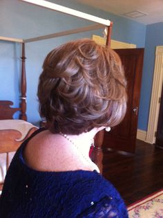 Mother of the bride hair style -- short!