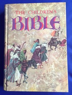 The Childrens Bible 1965 Vintage Golden Press Old and New Testament Illustrated