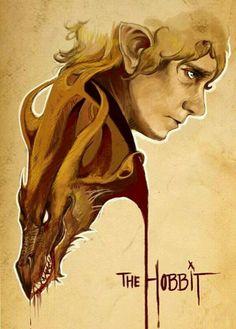 Bilbo & Smaug.                         The Hobbit