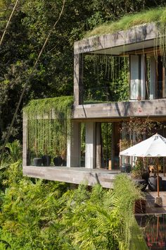 An Incredible Vacation Villa in the Balinese Jungle That's Part Chameleon is part of Concrete house - Villa Chameleon is a camouflaged vacation home near Buwit, a village in the lush, forested region of southwest coastal Bali between Canggu and Tanah Lot Villa Architecture, Green Architecture, Sustainable Architecture, Building Architecture, Chinese Architecture, Futuristic Architecture, Jungle House, Design Exterior, Exterior Paint