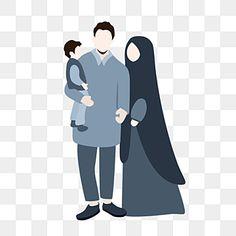 Family Clipart, Family Vector, Muslim Family, Muslim Couples, Silhouette Family, Minimalist Photos, Islamic Cartoon, Anime Muslim, Hijab Cartoon