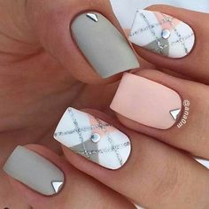 Checkered Pattern Squared Nails