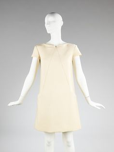 André Courrèges  (French, born 1923). Dress, ca. 1966. French. The Metropolitan Museum of Art, New York. Brooklyn Museum Costume Collection at The Metropolitan Museum of Art, Gift of the Brooklyn Museum, 2009; Gift of Mrs. William Rand, 1971 (2009.300.497)
