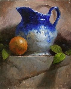 Flo Blue with Orange