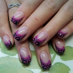 French with a twist by Tinekevb from Nail Art Gallery