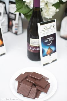 Lindt Chocolate and Wine Pairing Party ideas from @chocandcarrots