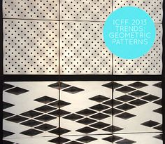 ICFF 2013: Geometric Patterns & Shapes - Tiles by Keiou Design Lab. #geo #icff #bestof