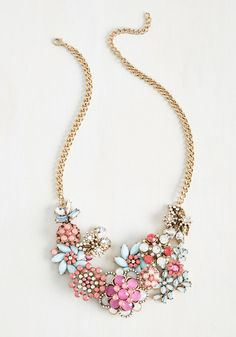 Vow to Wow Necklace in Magenta, #ModCloth