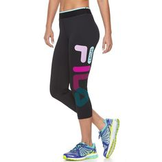 11a9965aec Women's FILA Sport® Rainbow Blast Capri Workout Leggings, Size: Small,  Oxford