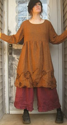 Scrunches and Flower Tunic by sarahclemensclothing on Etsy, $149.00