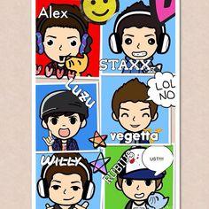#youtubers #cute #kawaii #alexby #staxx #vegetta777 #willyrex #luzu #lovethem…